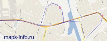 След движения часво трекера TK203 в системе GPS ГЛОНАССС мониторинга