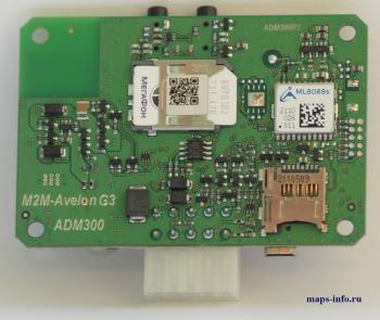 Спутниковый трекер ADM300 в разобранном состоянии. Обратная сторона платы трекера.