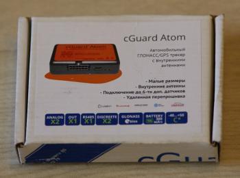 Автомобильный трекер cGuard Atom в упаковке