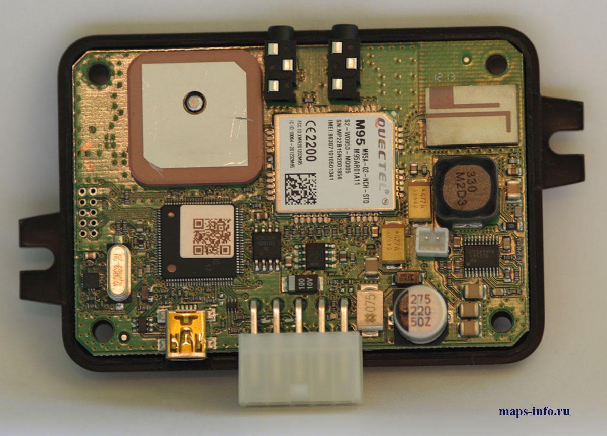 Спутниковый ГЛОНАСС трекер в разобранном виде ADM300