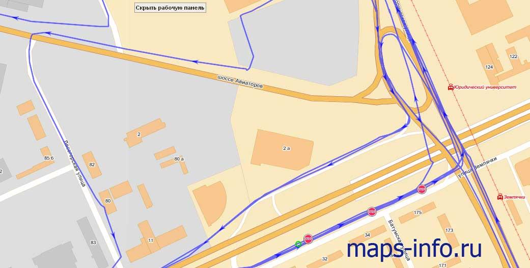 Трек маршрутного регистратора Teltonika FM1100
