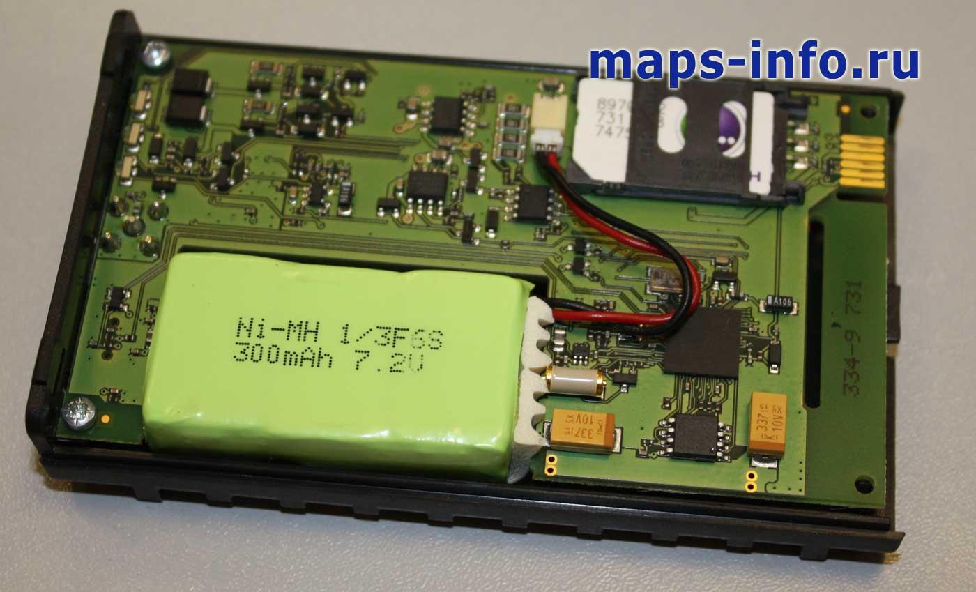 FM3200 внутри со стороны установки SIM карты