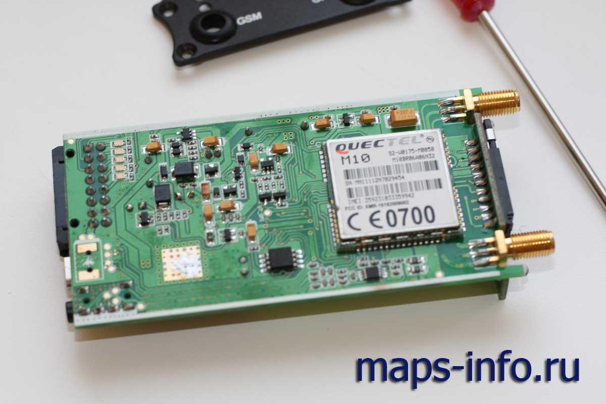 Внутренности спутникового контролера MVT380